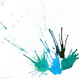 Ink abstract hand-drawn background with drops and splashes with Stock Photography