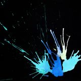Ink abstract hand-drawn background with drops and splashes with Royalty Free Stock Images