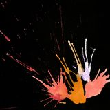 Ink abstract hand-drawn background with drops and splashes   Royalty Free Stock Images