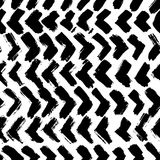 Ink abstract seamless pattern. Background with artistic strokes in black and white sketchy style. Design element for Royalty Free Stock Images