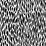 Ink abstract seamless pattern. Background with artistic strokes in black and white sketchy style. Design element for. Backdrops and textile Stock Photography