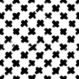 Ink abstract seamless pattern. Background with artistic strokes in black and white sketchy style. Design element for Stock Images