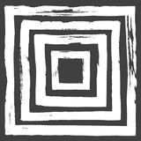 Ink Abstract Square Pattern. Background with artistic strokes in black and white sketchy style. Design element for Stock Photography