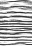Ink Abstract Stripe Seamless Pattern. Background with artistic strokes in black and white sketchy style. Design element Royalty Free Stock Images