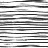 Ink Abstract Stripe Seamless Pattern. Background with artistic strokes in black and white sketchy style. Design element Stock Image