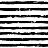 Ink Abstract Stripe Seamless Pattern. Background with artistic strokes in black and white sketchy style. Design element. For backdrops and textile Stock Illustration