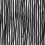 Ink Abstract Stripe Seamless Pattern. Background with artistic strokes in black and white sketchy style. Design element Royalty Free Stock Photography