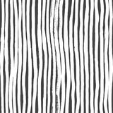 Ink Abstract Stripe Seamless Pattern. Background with artistic strokes in black and white sketchy style. Design element Royalty Free Stock Photos