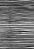 Ink Abstract Stripe Seamless Pattern. Background with artistic strokes in black and white sketchy style. Design element Stock Images
