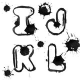 Ink alphabet Royalty Free Stock Image