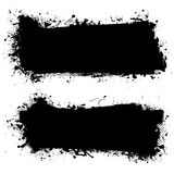 Ink black grunge banner Stock Photos