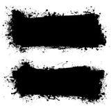 Ink black grunge banner Stock Photos