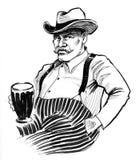 Man with a beer mug Stock Photography