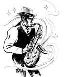 Jazz musician Royalty Free Stock Images