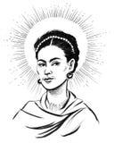 Frida Kahlo royalty free illustration
