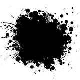 Ink blk rnd Stock Photo