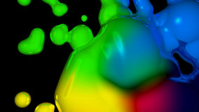 Ink Blob with Black Copy Space Stock Photo