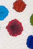 Ink blobs. Several fountain pen ink colours on a sheet of white paper royalty free stock photo