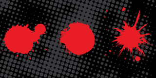 Ink and bloody drops. Abstract grunge vector Royalty Free Stock Photography