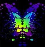 Ink blot. Vector butterfly Ink blot on black Stock Image