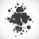 Ink blot. Beautiful hand drawn ink blot for your design stock illustration