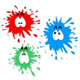 Ink blot characters Royalty Free Stock Photography