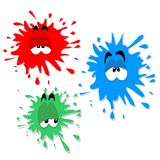 Ink blot characters stock photography