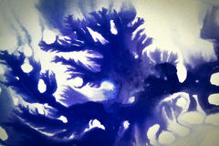 Ink blot flowed, association. Ink blot flowed, dark abstract background, association Royalty Free Stock Photo