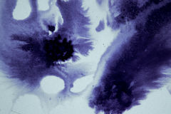 Ink blot flowed, association. Ink blot flowed, dark abstract background, association Stock Photo
