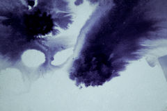 Ink blot flowed, association. Ink blot flowed, dark abstract background, association Stock Photography
