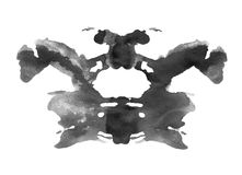 Ink blot in rorschach psychology test style royalty free illustration