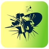 ink blot stain on bright background vector illustration