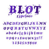 Ink blot typeface Royalty Free Stock Photo