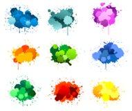 Ink blots. Black ink blots isolated on white for design vector illustration
