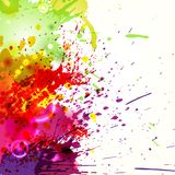 Ink blots background. Abstract background with colored ink blots. eps10 stock illustration