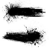 Ink blots banners Royalty Free Stock Photos