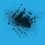 Ink blots blue background Royalty Free Stock Photography