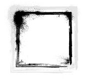 Ink blots frame Royalty Free Stock Images