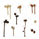 Ink blots. paint, coffee stains Stock Photography
