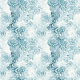 Ink blots seamless floral pattern Royalty Free Stock Image