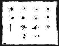 Ink blots set Stock Images