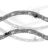 Ink blots tire track Stock Images