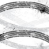 Ink blots tire track Royalty Free Stock Photo