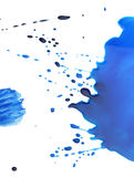 Ink blots on white royalty free stock photo