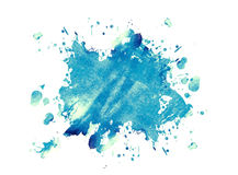 Ink blue blot Stock Image