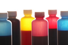 Ink bottles Stock Photography
