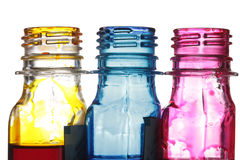 Ink bottles Royalty Free Stock Photos