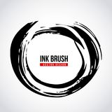 Ink brush grunge paint element smear stain texture Royalty Free Stock Photo