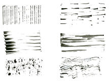 Ink brush set Stock Images