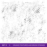 Ink Brush Strokes Grunge Collection. Dirty Design Elements Set. Paint Splatters, Freehand Grungy Lines. Vector illustration vector illustration